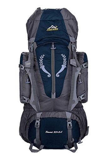 Rucksack für Sport/Outdoor/Wandern/Klettern/Trekking, wasserdicht,85L,groß Blau - dunkelblau