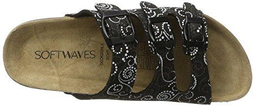 Softwaves 274 138, Mules Femme Noir/multicolore