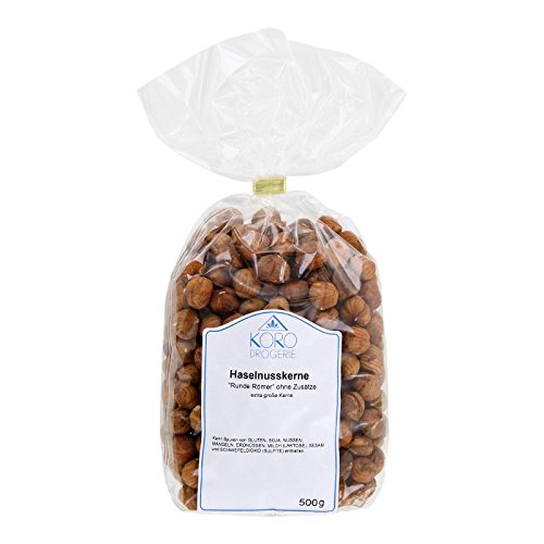 Preisvergleich Produktbild Haselnusskerne Runde Römer Geschält Naturbelassen Ohne Zusätze 500 g Packung KoRo Drogerie