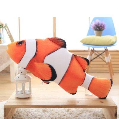 Clown Rag Doll (Hebao Personalisierte creative 3D-Simulation Clownfische Plüsch Spielzeug Puppe sofa Kissen Kissen abnehmbar waschbar Geburtstag Geschenk, Clownfische, 40 cm)