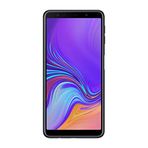 "Samsung Galaxy A7 (2018) Smartphone, Nero (Black), Display 6.0"" 64 GB Espandibili, Processore Octa Core 2.2 GHz, 1.6 GHz, Dual Sim [Versione Italiana]"