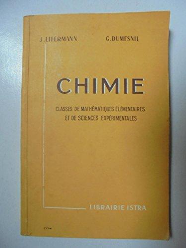 Chimie - Classes de mathématiques élémentaires et de sciences expérimentales