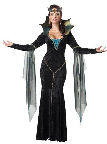 California Costumes Dunkle Magierin Hexe Zauberin Halloween Damenkostüm schwarz-blau L - Dunkle Zauberin Damen Kostüm