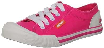 Rocket Dog Women's Jazzin Pink Neon Lace Ups Trainers 3 UK
