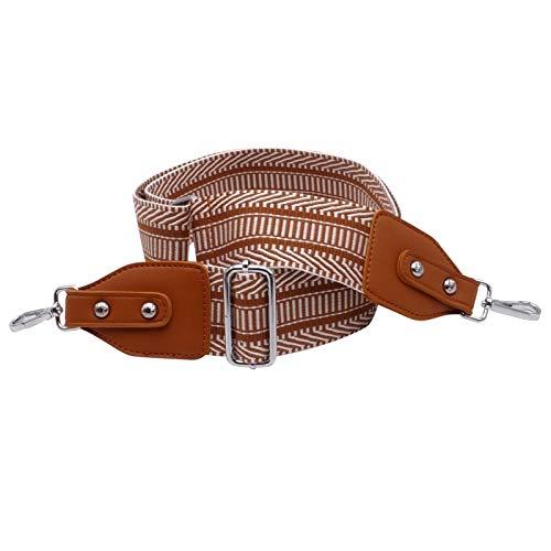 2135813fa5753 BENAVA Taschengurt Schultergurt für Taschen Braun Silber Verstellbar Breit  mit Karo Muster