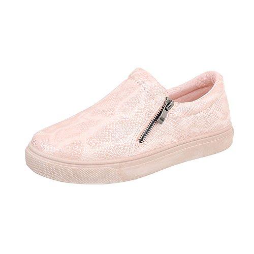 Scarpe da Donna Sneaker Piatto Sneakers Low Rosso Taglia 40 1bEosU