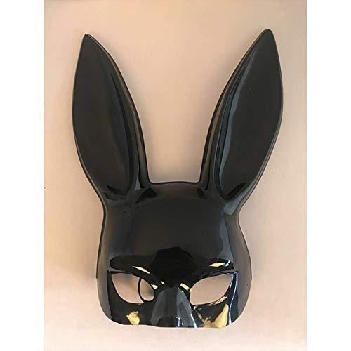 Kaninchen Füße Kostüm - AMSIXP Maske 1pc Sexy Bunny Ball Maske Halloween Lange Ohren Kaninchen Maske Für Party Kostüm Cosplay Maskerade Schwarzlicht