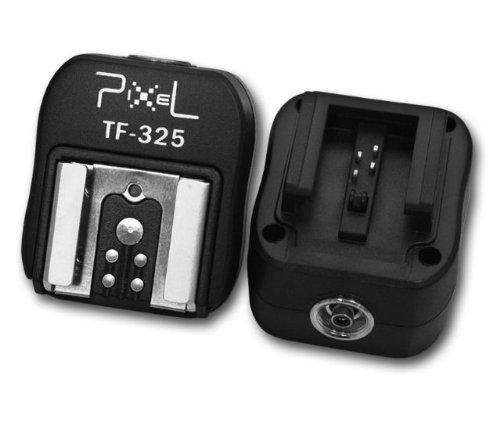 Pixel TF-325 Blitzadapter für (Blitzschuhadapter) für Mittenkontakt-Blitz (Standard ISO) an Sony/Minolta a900 a850 a700 a580 a560 a550...