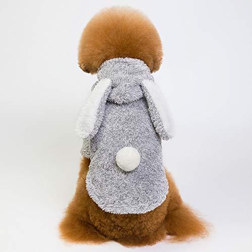 Weibliche Hunde Niedliche Kostüm - JFS Hund Hoodies Jumpsuit, Mode Niedlichen Kleinen Haustier Hund Kleidung Kaninchen Ohr Fleece Niedlich - Winter Hoodies Weiche Mäntel Kostüm Bekleidung Für Walking,A,M