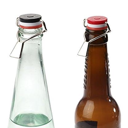 Westmark-3-Flaschen-Hebelverschlsse-Mit-Silikondichtung-Stahl-RotWeiSchwarz-44402280