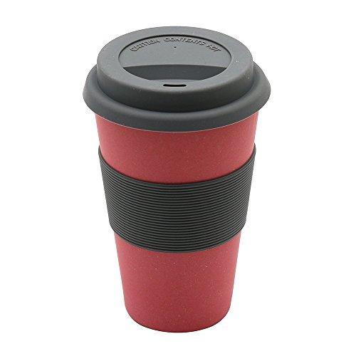 Magu 133 465 Coffee to Go Gobelet Fibre de Bambou/Bois/Fécule de Céréale Rouge 28 x 28 x 8 cm