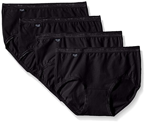 Sloggi Damen Bikinislip, 4er Pack, Schwarz (Black 1), Gr.44 (Herstellergröße: 46 FR) -