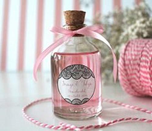 24 x Kleine Glasflaschen mit Korken - ideal für Hochzeitsbevorzugungen