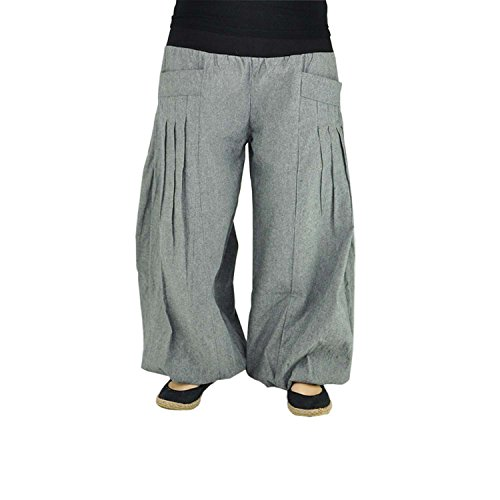 virblatt - Yogahose Haremshose Damen Herren Ballonhose Yoga Kleidung - Yogazeit gr/bk
