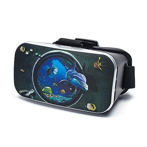 aricona Design VR Virtual Reality Brille – Video Gaming Headset Box für Filme & Spiele in 3D Format Universal 4.0 - 6.0 Zoll Smartphones, IPhone & Samsung Galaxie Serien
