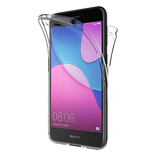 AICEK Huawei Y6 Pro 2017 Hülle, 360°Full Body Transparent Silikon Schutzhülle für Huawei Y6 Pro 2017 Case Crystal Clear Durchsichtige TPU Bumper Huawei Y6 Pro 2017 Handyhülle (5,0 Zoll)