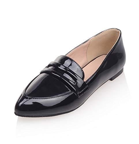 SERAPH C-7 Damen Patent Loafer Wohnungen Damen Spitz Mokassins Schule Ballett Schuhe,Black,EU40 Patent Dolly