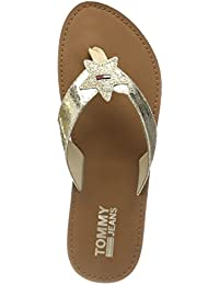 Hilfiger Denim Damen Glitter Beach Sandal Zehentrenner