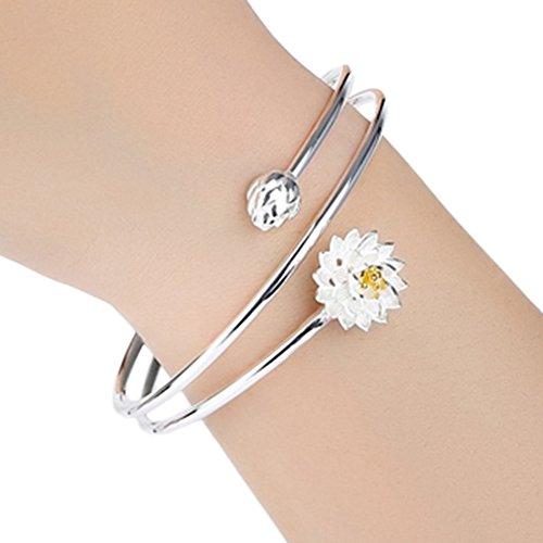 fablcrew Lotus Armreif Fashion Multi Loop Armband Silber Hand Kette für Frauen Mädchen Schmuck Geschenk Platin-hochzeit-sets Für Frauen