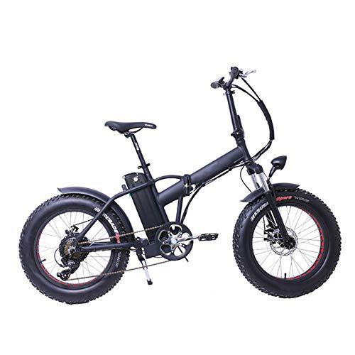 ZHaoZC Bicicleta eléctrica de 20 Pulgadas, Moto de Nieve con neumáticos Anchos eléctricos con Velocidad...