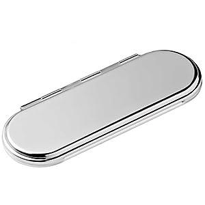 Versilberter viereckiger abgerundeter Taschenspiegel