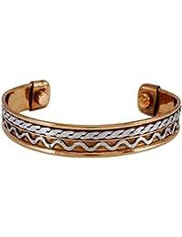 Banithani Nueva ajustable de cobre sólido unisex brazalete pulsera de la joyería para el regalo