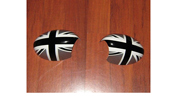 Original Mini Außenspiegel Kappen Blenden Black Jack R55 R56 R57 R58 R59 R60 Ohne Beikl Auto