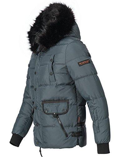 Marikoo Herren Winter Jacke Steppjacke Na Und (vegan hergestellt) 4 Farben + Camouflage S-3XL Blau