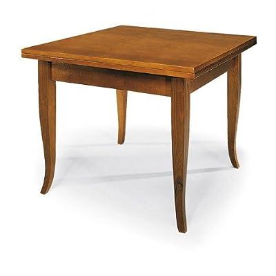 Lo Scrigno Arredamenti, Tavolo quadrato allungabile a libro Classico 100-200 W140/NC