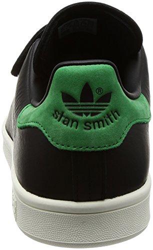 adidas Stan Smith CF, Scarpe Sportive Uomo nero (Negbas / Negbas / verde)