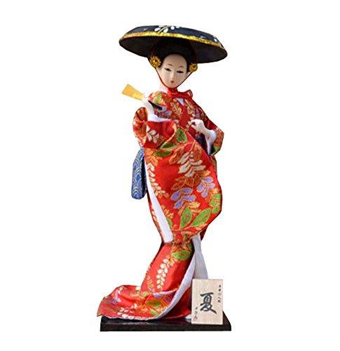 """Zufälliger Stil - 12 \""""japanische Geisha Puppe mit traditionellen Vintage Kimono - A4"""