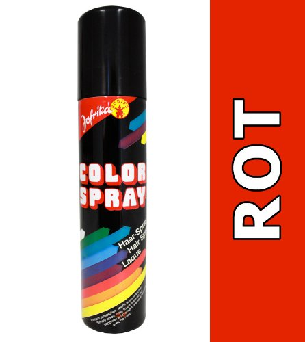 NET TOYS Haarspray rot Colorspray Haarcoloration Farbspray rotes Haar Spray Karneval Haarsprays Colorsprays Haarcolorationen