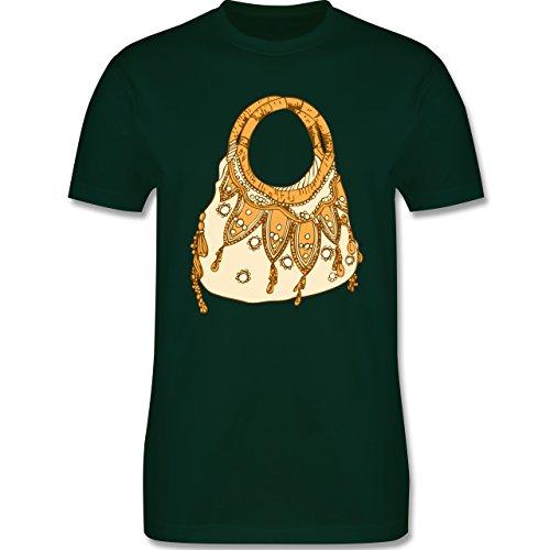 Symbole - Handtasche - Herren Premium T-Shirt Dunkelgrün