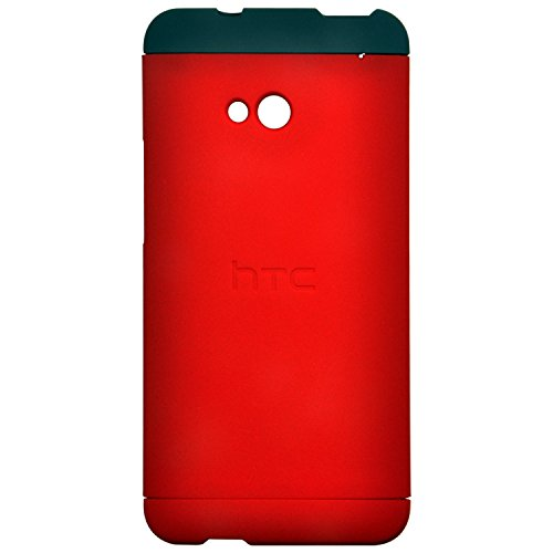 Heartly Double Dip Hard Shell Premium Back Case Cover For HTC One M7 Single Sim - Grey Red Red  available at amazon for Rs.529