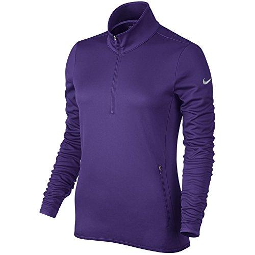 Nike Women's Thermal 1/2 Zip Sweater Purple 685282 547 (l) Nike Womens Thermal