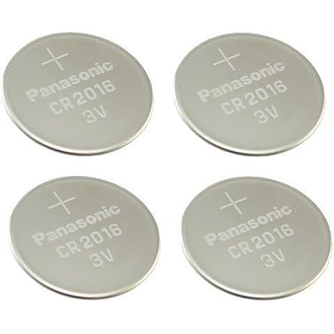 Panasonic 4 unidades de pilas de botón de pilas de litio CR2016 3 V multi-usos nuevo