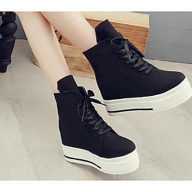 Lvyuan-ggx Womens Heels Rope Printemps Blanc Noir Couleur Écran Plat Noir