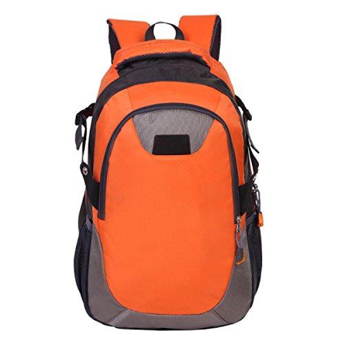OGERT Zaino Esterno Di Corsa Di Svago Tela Di Grande Capacità,Orange Orange