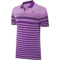Adidas Golf 2015Da uomo ClimaCool Birdseye Stripe Jacquard Polo Mesh
