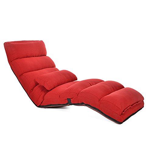 JiaQi Herausnehmbaren Folding Sofa,Einzelnen Falten Tatami-matten Fußboden Stuhl,Sofa faul,Lounge Chair Moderne-Rot 175cm(69inch) - Rote Moderne Lounge-stühle