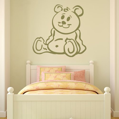 Cartoon Orsacchiotto Wall Sticker bambini Bedroom Adesivo