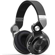 Bluedio T2 plus auriculares inalambricos bluetooth 4.1 con radio incorporada y micro sd (Negro)