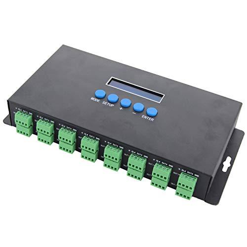 TOOGOO Bc-216 Due Canali 16 Canali Artnet To Spi/Dmx Ws2811 Ws2812B Sk6812 2801 8806 Controller LED 340Pixel 16Ch Dc5V-24V