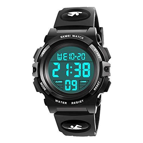 EUTOYZ Jungen Digitaluhren, Kinder Sport 5 ATM wasserdicht Digital Uhren mit Alarm/Timer/EL Licht Kinderuhren Outdoor Armbanduhr für Jugendliche Jungen Jungen Geschenke 5-12 Jahre
