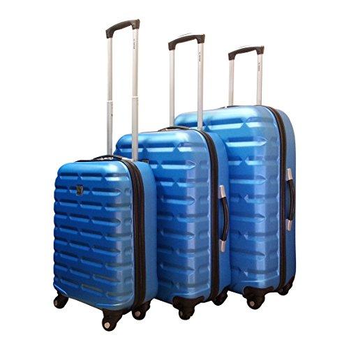 Benzi - hartschale - Kofferset - 3 Teilig - Bricks - hellblau