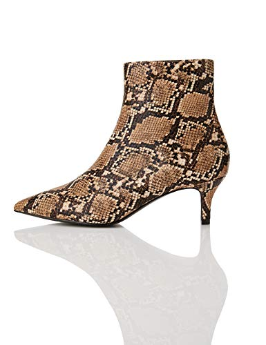 find. Kitten Heel Point Toe Animal Stivaletti, Marrone Natural Snake), 40 EU