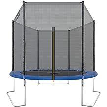 Ultrasport Trampolino da Giardino Jumper, Inclusa Rete di Sicurezza, Blu, 251 cm
