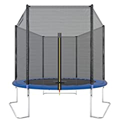 Idea Regalo - Ultrasport Trampolino da giardino Jumper, set trampolino per Il Salto inclusi tappeto elastico, rete di sicurezza, pali della rete imbottiti e rivestimento dei bordi, fina a 120kg, Blu, Ø 251 cm