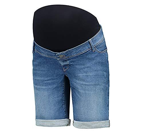 Love2Wait Cargoshorts Kurze Hose Umstands Umstandsshorts Shorty o. Jeans Shorts Umstandsmode Damen Hose (L (42-44), Stone wash (Short Long))