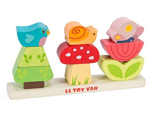 Le Toy Van Petilou - Jardín de Madera, diseño con Texto My Stacking